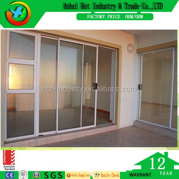 Villa Wohnzimmer Fenster und Türen Design Schwarz PVC Rahmen ...