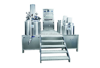 Adopt three layers electric or steam heating vacuum emulsifying mixer for daily chemical products making pot