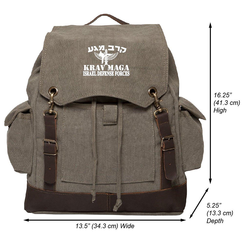 Krav Maga Martial Arts Israel Defence Forces Rucksack w/ Leather Straps