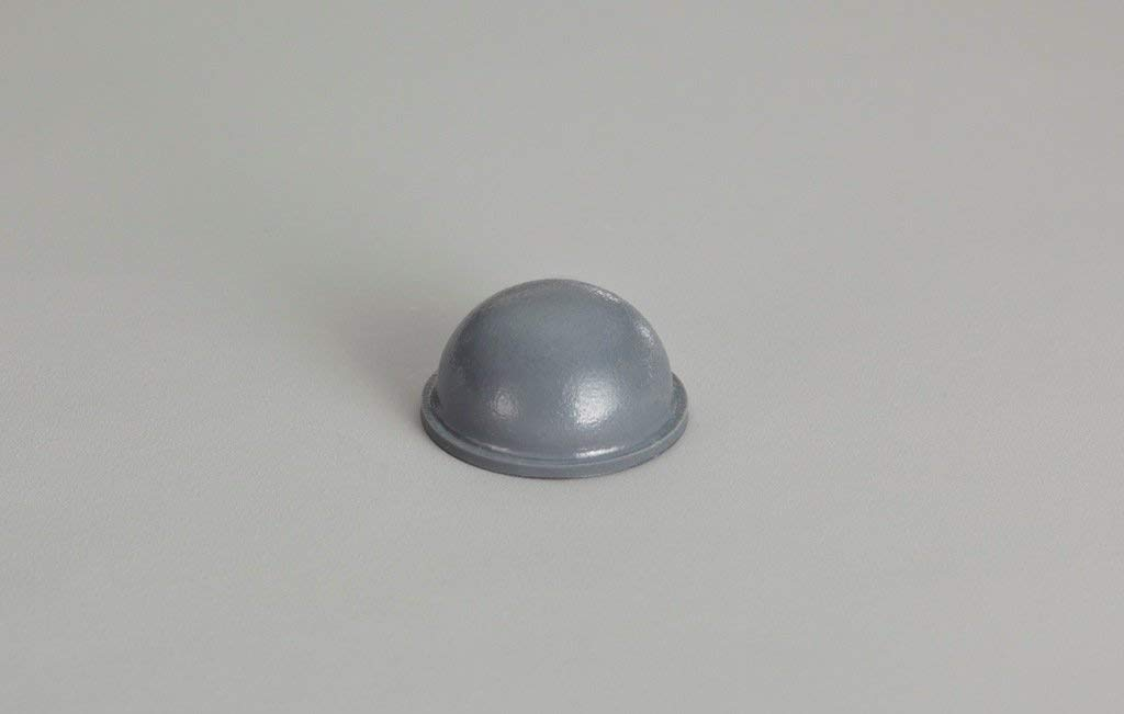 """Round Self-Adhesive Rubber Bumper Feet, Stops, and Spacers .620"""" inches (15.7 mm) x .310"""" inches (7.9 mm) - 3,200 pcs/box - BS15 Grey"""