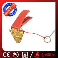 CE Approved Brass Material Red Handle 4-6KG ABC Dry Powder Fire Extinguisher Valve