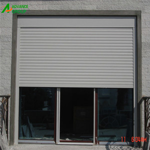 Guangzhou factory sale electric rolling up doors / shutter gates with aluminum material