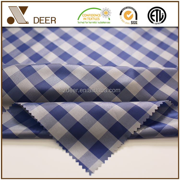 Popular New Type Lining 100% Polyester Check Suiting Fabric