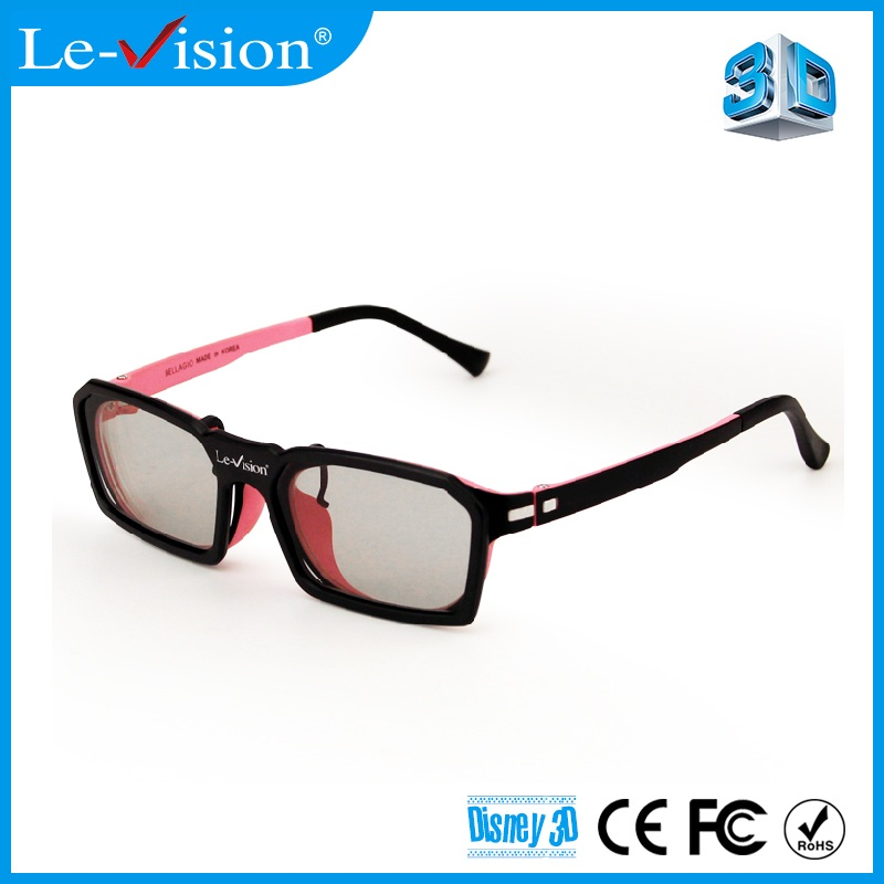Le-Vision stereoscopic cinema 3D glasses clip for digital cinema circular polarized passive 3D glasses clip