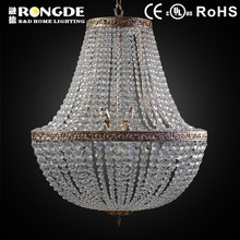 Chinese crystal white beaded chandelier for hotel
