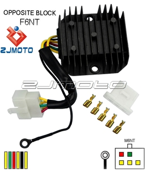 zjmoto motorcycle part, 12v motorcycle voltage regulator rectifier, motorcycle  regulator rectifier with 6 wires
