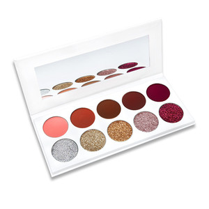 New Arrival Rainbow Your Eyes Glitter and Matte 10color Eyeshadow Palette Rainbow private label Eye Shadows Multicolor
