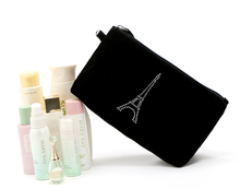 Promotional nylon cosmetic bag mini toiletry pouch makeup set can add logo