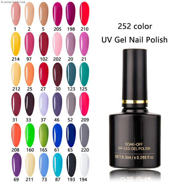 Soak Off Gel Vernis Hybride Ongles Art Vernis Semi Permanent UV Gel Nail Set Polonais Pour Manucure nail art
