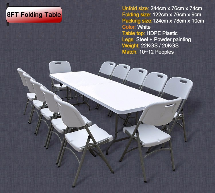 8ft Exhibition Plastic Fold In Half Rectangular Table   Buy Rectangular  Table,Plastic Fold In Half Table,Plastic Rectangular Table Product On ...