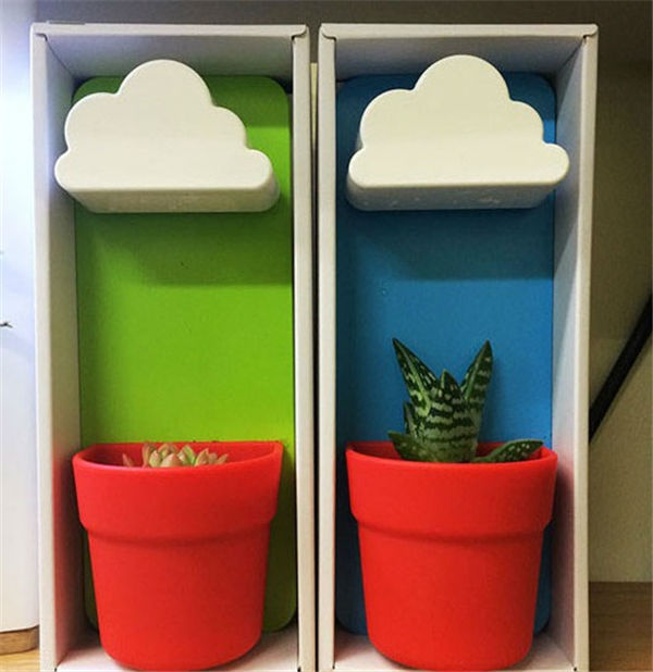 Clouds flowerpot Creative Flowerpot Wall-mounted pots Potted office plants As a gift for your friends