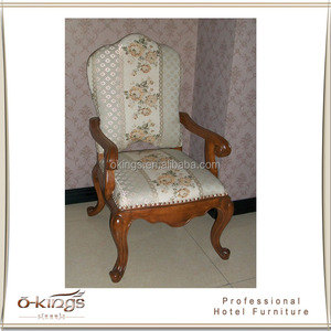 Solid wood hotel chair for dining room use