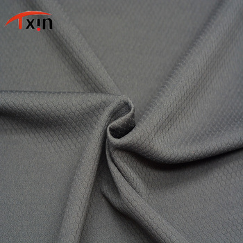 Fuzhou Tongxin Textile Black Polyester Knitted Honeycomb Jersey Fabric For Sportswear