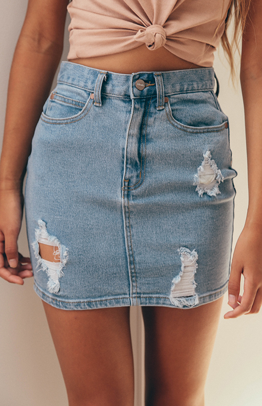7389b019b5 Afends | Beat Chevy Denim Skirt ? Stone Blue | Back In Stock | Peppermayo