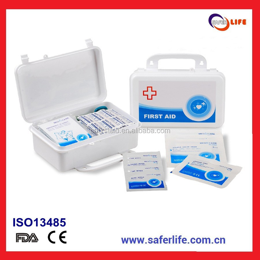 Professional PP plastic first aid kit for Home and Office use