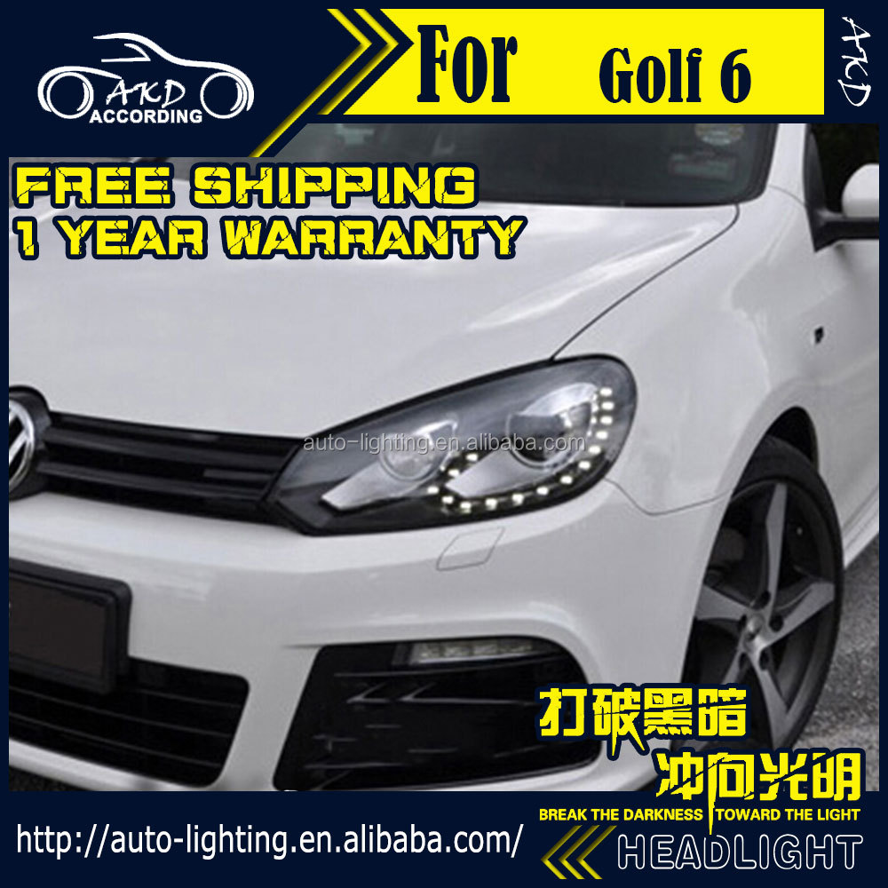 akd styling de voiture pour vw golf 6 led phare 2009 2012 golf6 r20 led phare led t te lampe. Black Bedroom Furniture Sets. Home Design Ideas