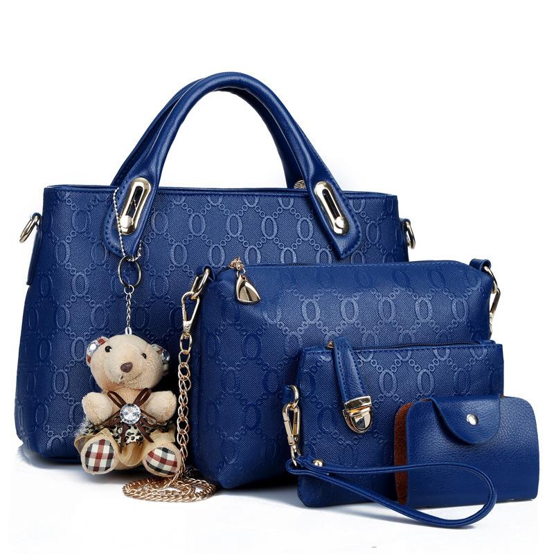 4 In 1 Set Bear Bag Designer Lady Bags Handbag