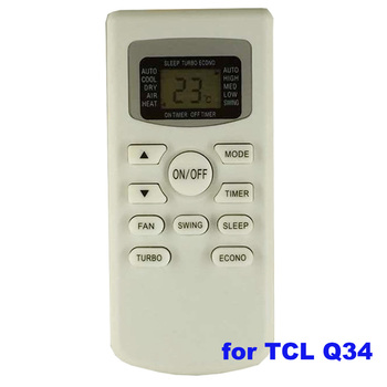 Air-conditioner Remote Control Made In China For Tcl Q34 Air Conditioner  Remote Control Manual - Buy Air Conditioner Remote Control Manual,Tcl Air