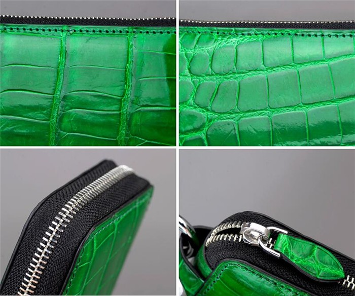 Fancy genuine crocodile leather key chain holder wallet for gift