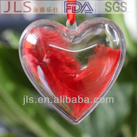 clear plastic heart box valentines day heart ornaments