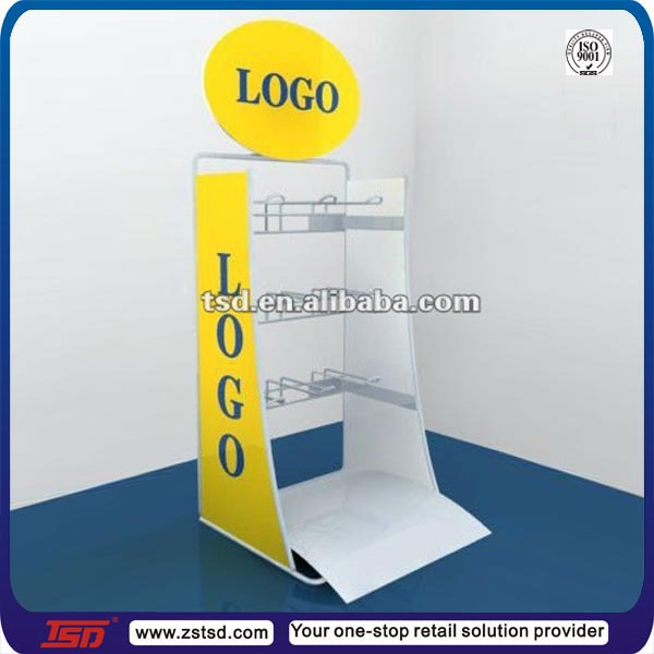 TSD-M003 Custom metal wire battery display stand,table top product display,wire counter display rack