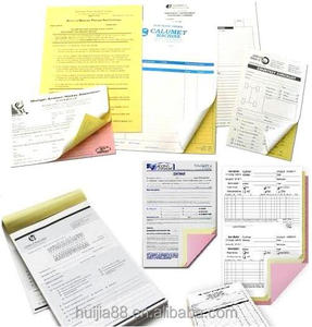 Printing computer continuous Purchase order forms/Notes Book