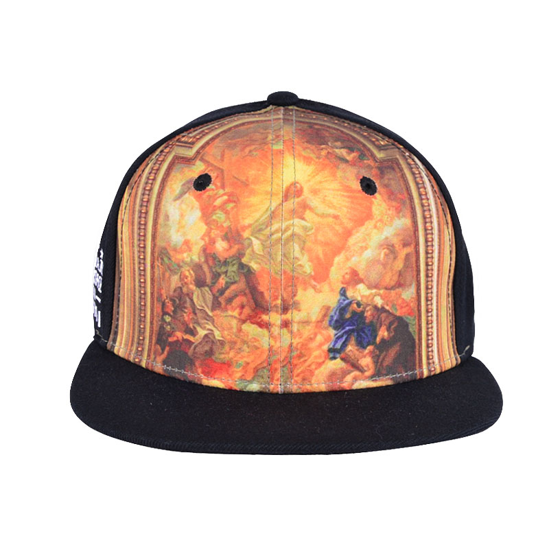 Customized Embroidery Heat transfer printed snapback cap with high quality