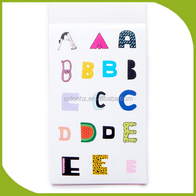 Print on abc stickers with fast sticker printing service