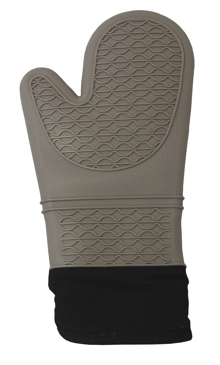 CoastLine Silicone Quilted Professional Oven Mitt Potholder | High-Temperature Heat Resistant Silicone Oven Glove with Extra Grip & Heat Resistant Lining