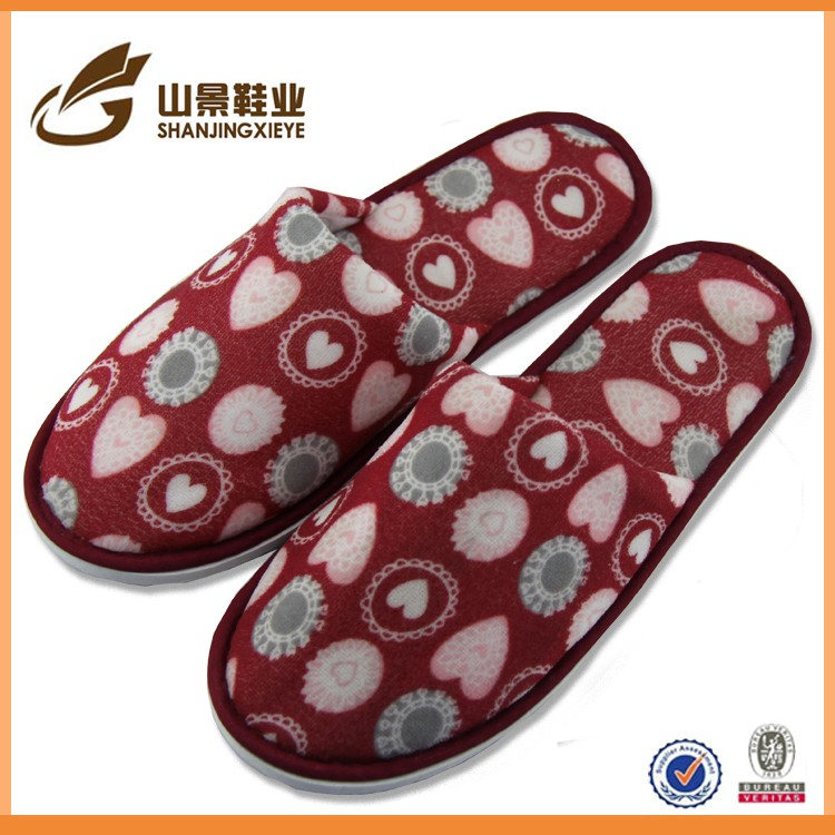 professional customized lady's cross slippers indoor slipper for men