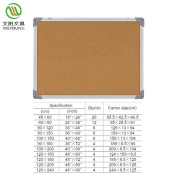 Custom Wall Mounted Bulletin Board With Pin Cork Product On Alibaba