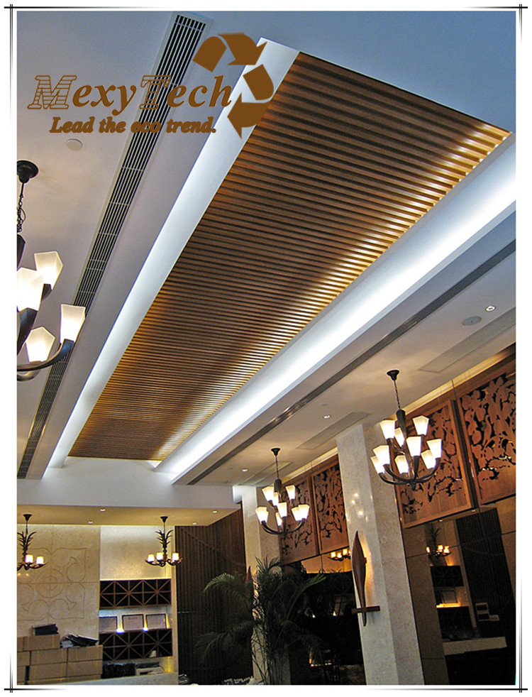 New Design Wpc Material Indoor Composite Wood Ceiling