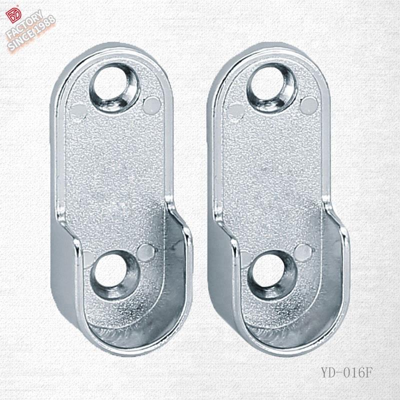 cromado pulido ajustable Soporte para barra de armario ovalado de 15 mm