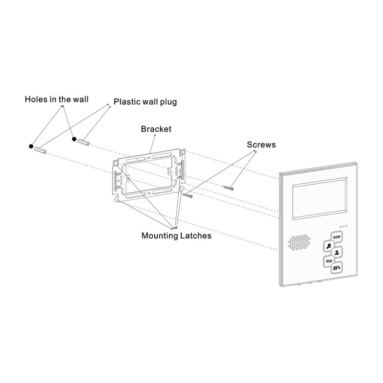 CAT5 CAT6 Multi Apartment Gate Intercom System With Camera