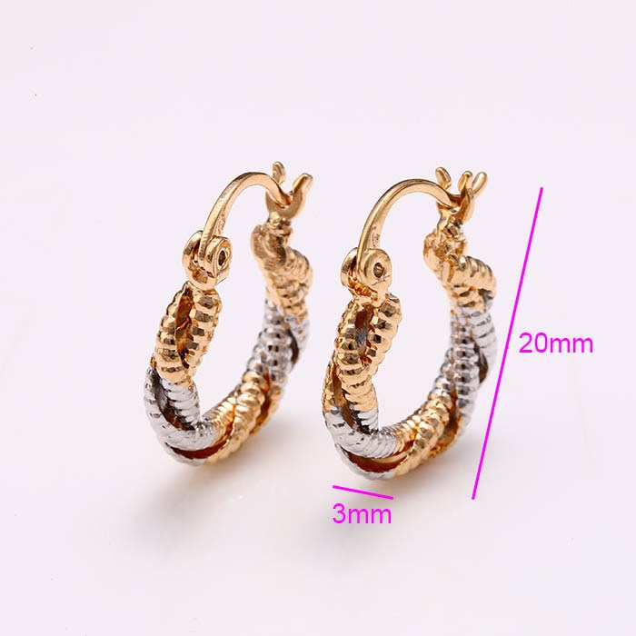 26393 New 2016 Latest Beautiful 3 Gram Gold Plated Earrings ...