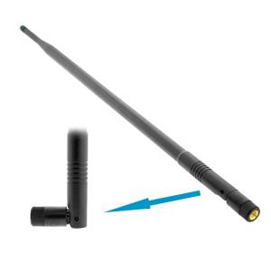9dBi High Gain Booster 15-inch OMNI-Directional SMA Screw-On Swivel Antenna