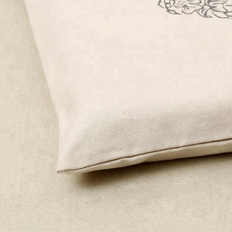 Custom canvas tote shopping bag calico shopper bags with logo printed