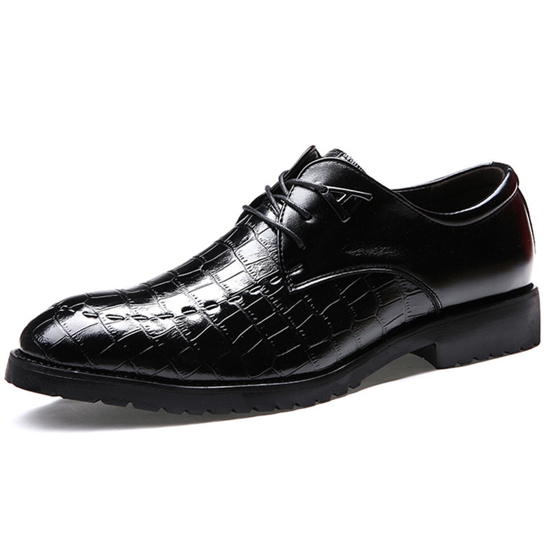 Hot Sale 2015 Sapatos Masculinos Social Man Dress Shoes Leather Wedding Office Shoes Massage Breathable Flats Spring Black 38-43