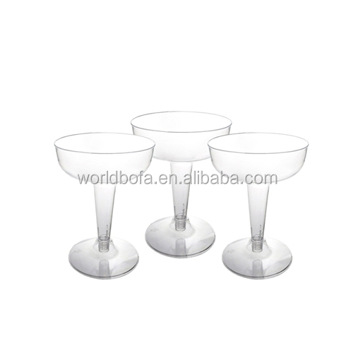 Disposable plastic cocktail glass unbreakable margarita glass