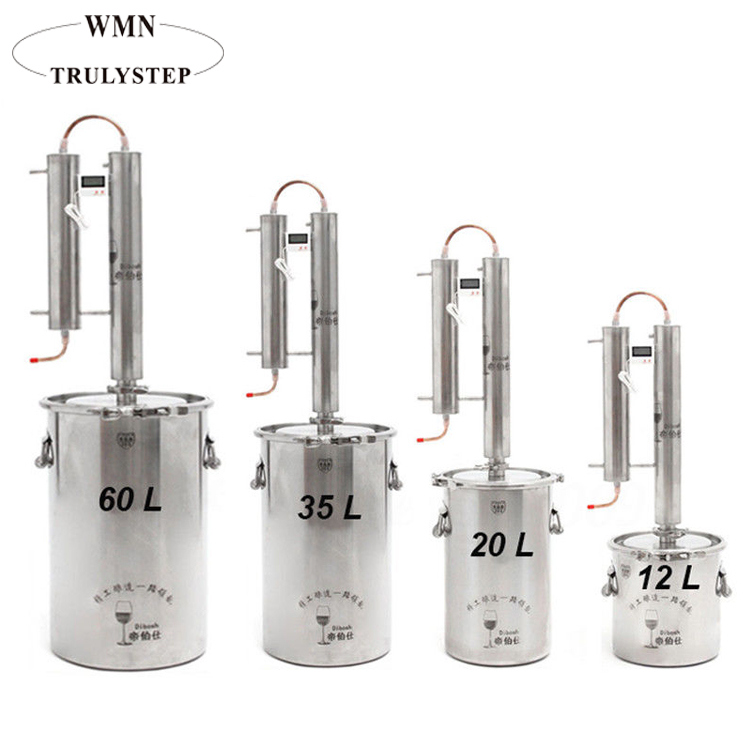 60L Whole 304 Stainless Steel Water Alcohol Distillation Equipment