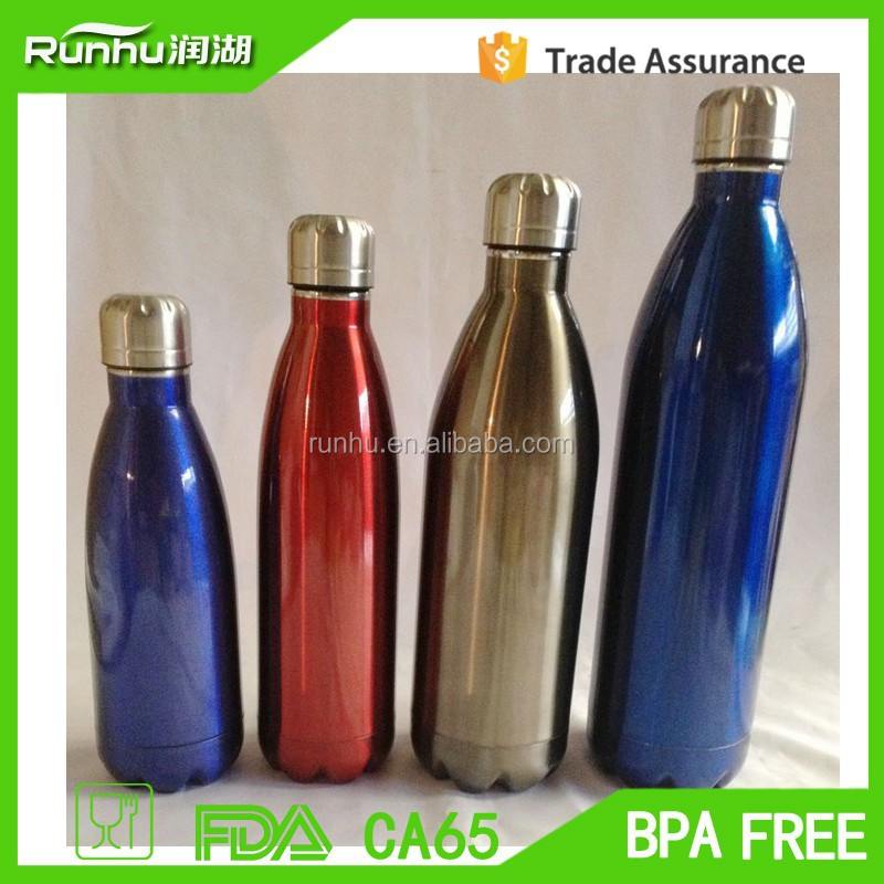 new bone china stainless steel promotional sports bottle RH503