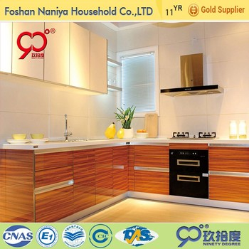 2016 the hot sell bright colour ready made kitchen designs for prefab home kitchen