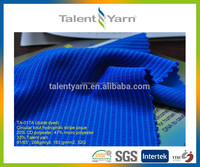 Circular knit hydrophilic polyester double dyed fabric