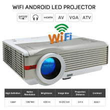 EUG X99 Android4.4 Wireless Office Education 4200 Lumens LCD Projector