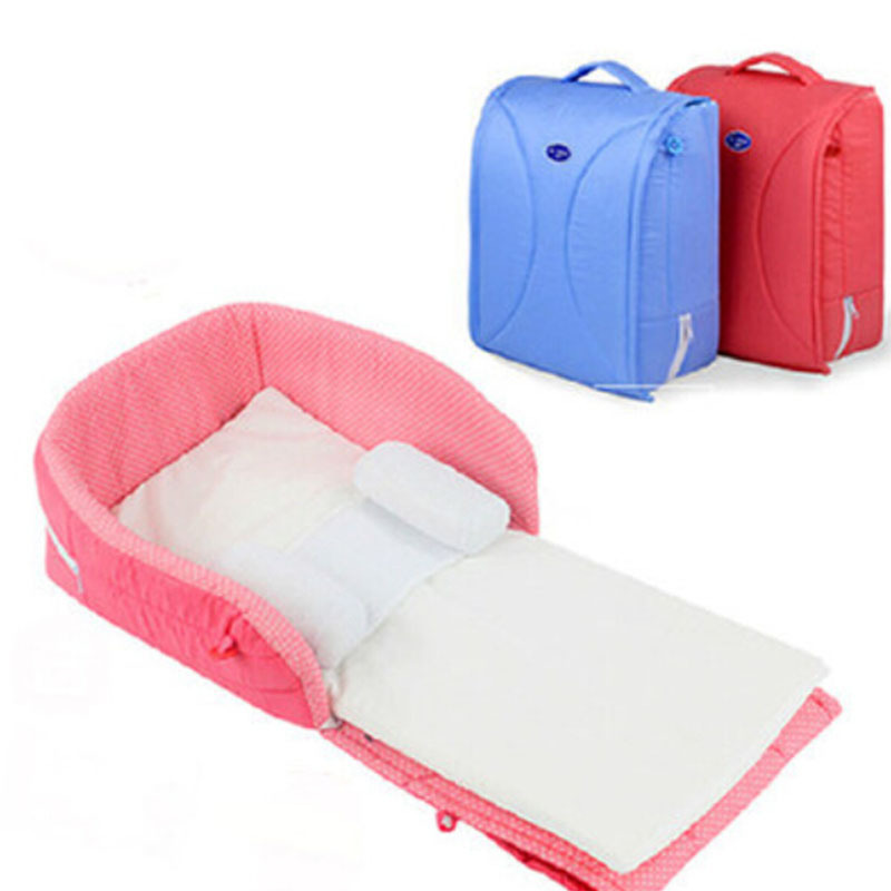 Luxury Buy For 0 6Months fort Playpen Folding Baby Crib Cot Bed Fashion Portable Bed For Baby Outdoor Camping Travel Bag Crib Red Blue in Cheap Price on New - Inspirational portable infant bed Model