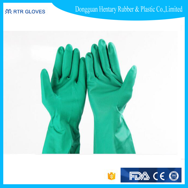 unlined latex household gloves