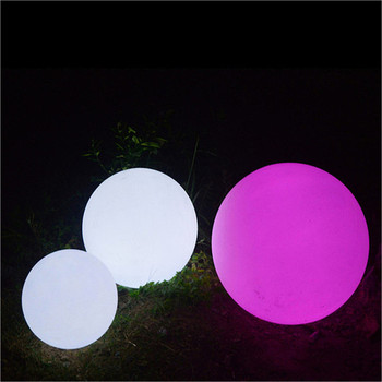 illuminated stones dmx control waterproof outdoor solar led stone ball light lamp swimming pool ball light