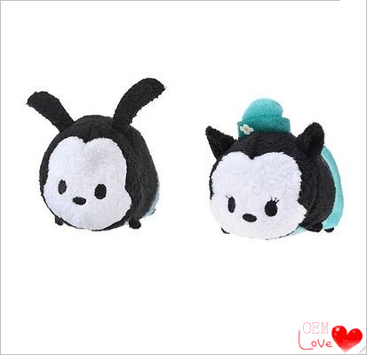 New Tsum Plush Toy The lucky rabbit Oswald and girlfriend Ortensia Decor Dolls