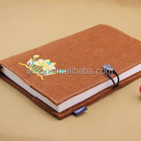Wholesales Fabric Bound Notebooks with Metal Button and Embroidery LOGO School supply