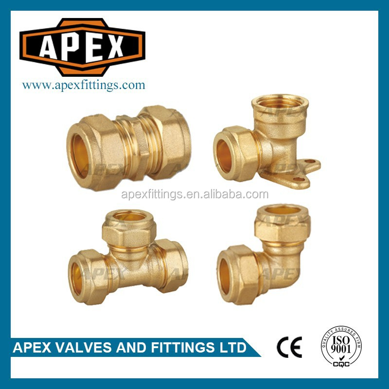 High Quality Brass Compression Fittings For Copper Pipe